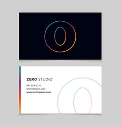 business-card-number-0 vector image vector image