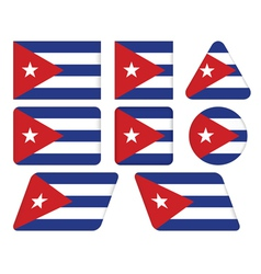 buttons with flag of Cuba vector image vector image