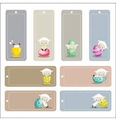 Cute easter labels vector image vector image