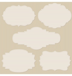 Set of five vintage striped frames vector image vector image