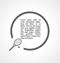 tennis racket symbol and circle vector image vector image