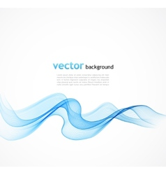 Abstract colorful blue background with curved vector image