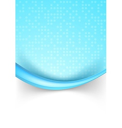 Bright blue dotted abstract background with border vector image