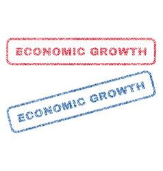 Economic growth textile stamps vector