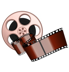film roll and strip isolated vector image