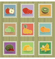 fruit stamps vector image