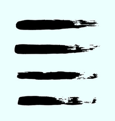 set of black ink brush strokes brushes lines on vector image vector image