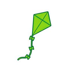 kite sign lemon scribble icon on white vector image vector image