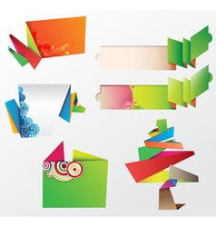 origami design elements vector image vector image
