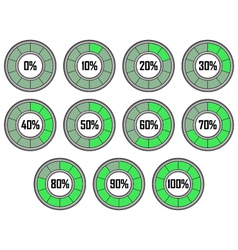 Round Loader Progress Bar vector image