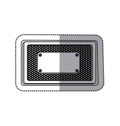 sticker silhouette rectangle grille perforated vector image vector image