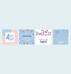 American independence day celebrations greeting vector