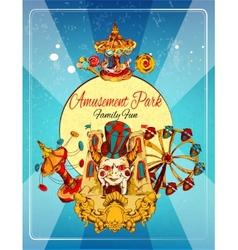 Amusement Park Poster vector image