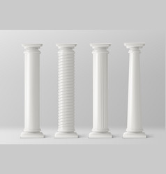 Antique columns set isolated on white background vector