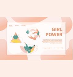 banner girl power concept healthy life vector image