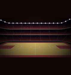 Basketball stadium with court vector