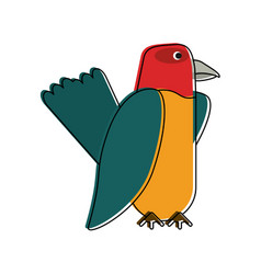 Beautiful parrot bird vector