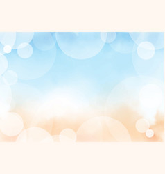 beautiful summer beach and blue ocean top view vector image