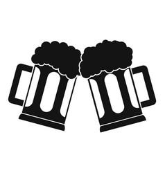 beer mug icon simple style vector image