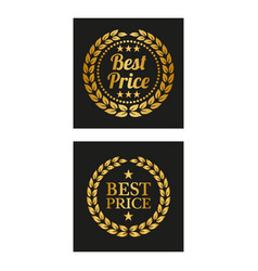 best price label in two versions vector image