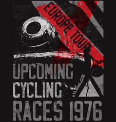 bike poster graphic fashion art design vector image