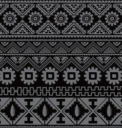 black native american ethnic pattern vector image