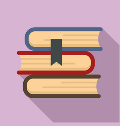 Books stack icon flat style vector