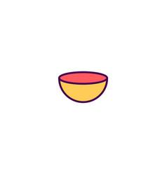 bowl icon design gastronomy icon design vector image