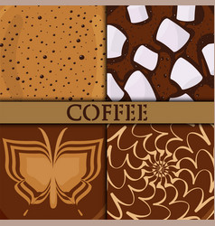 brown background coffee bubble chocolate cocoa vector image