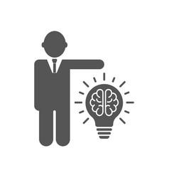 businessman and idea lamp symbol vector image