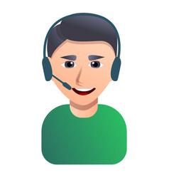 call center employee icon cartoon style vector image