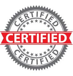 Certified stamp badge vector