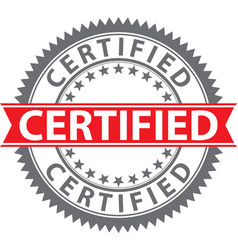 certified stamp certified badge vector image