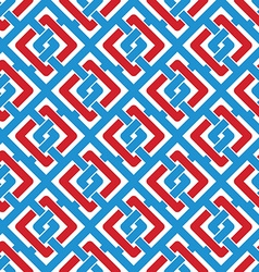 Colorful geometric seamless pattern symmetric vector image