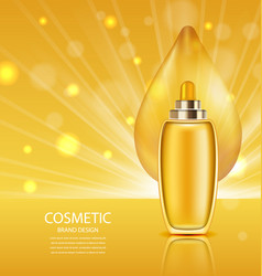 Cosmetic product with oil abstract orange vector