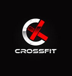 Crossfit sport logo design symbol vector