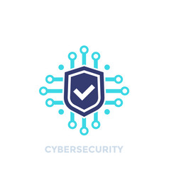 Cyber security data protection logo vector