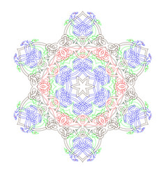 decorative mandala good for coloring book for vector image