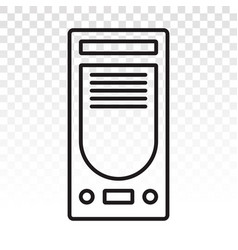 Desktop pc or personal computer line art icon vector