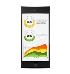 diagrams on phone display vector image