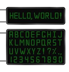 Digital font vector