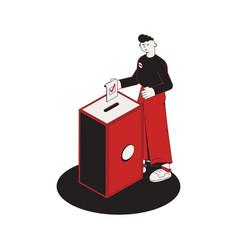 Elections ballot box composition vector