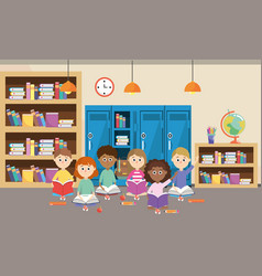 Elementary school cartoon vector