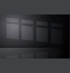 empty dark room concept with sunlight on wall vector image