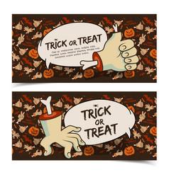 evil halloween horizontal banners vector image