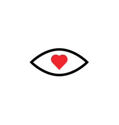 eye love icon graphic design template vector image