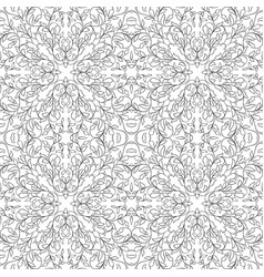 filigree floral pattern vector image