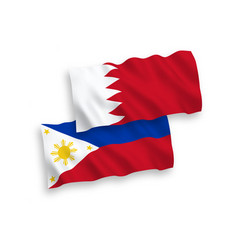 Flags philippines and bahrain on a white vector