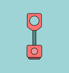 Flat icon design collection piston of vehicle vector