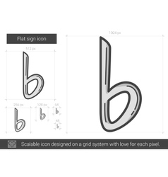 Flat sign line icon vector image